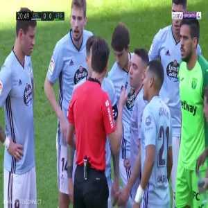 Filip Bradaric (Celta Vigo) straight red card vs Leganes 21'