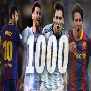Leo Messi becomes the first player in football history to reach 1000 goals+assists in their senior career.
