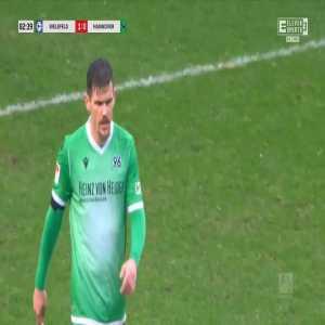 Arminia Bielefeld 1-0 Hannover - Reinhold Yabo 83'