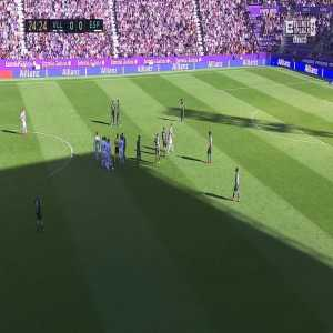 David López (Espanyol) second yellow card vs. Real Valladolid (25')