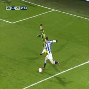 Halilovic shoots into SC Heerenveen kitchen from open play.
