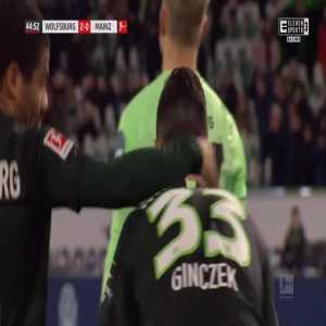 Wolfsburg 2-0 Mainz - Renato Steffen 45'