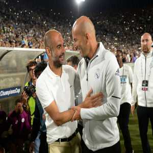 """Pep Guardiola: """"I have an incredible admiration for Real Madrid. The players who have played there have played so many times in the Champions League final and I don't know how many times each one has lifted it."""""""