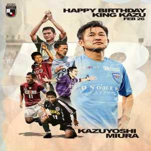 Kazuyoshi Miura turns 53 today in his 35th season of professional play! The oldest ever goalscorer in a professional league. One of only two active footballers that featured on FIFA 96. The oldest professional footballer in the world.