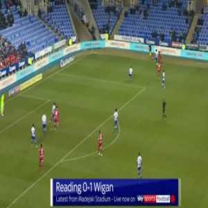 Reading 0-1 Wigan - Kieffer Moore back-heel 23'