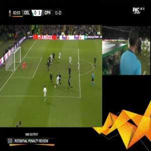 Celtic [1]-1 FC Copenhagen [2-2 on agg.] - Odsonne Edouard penalty 83'