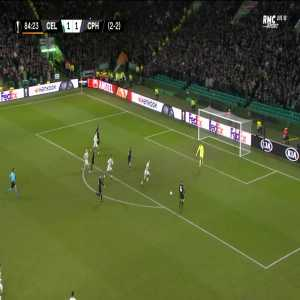 Celtic 1 - [2] FC Copenhagen [2-3 on agg.] - Biel 85'