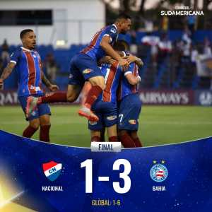 Esporte Clube Bahia have advanced to the Second Stage of the Copa Sudamericana