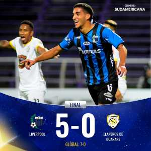 Liverpool Fútbol Club (Uruguay) have advanced to the Second Stage of the Copa Sudamericana