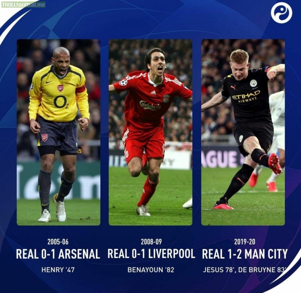 Manchester City become only the third English team to beat Real Madrid at the Bernabeu