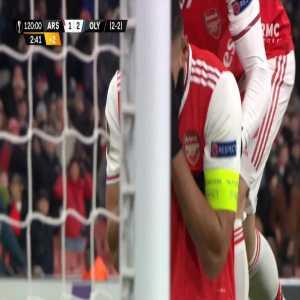 Pierre-Emerick Aubameyang miss against Olympiakos 120'+3'
