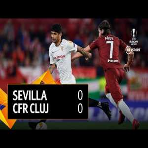 BT Sport upload an insane 30secs of highlights from the Sevilla 0-0 Cluj match. A disallowed goal and red card occur, blink and you may miss them