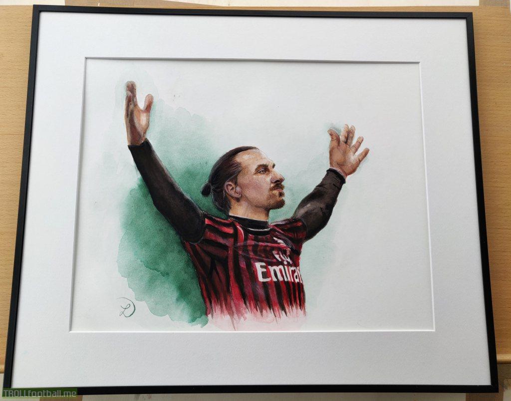 I painted Ibracadabra (Zlatan Ibrahimovic)😊
