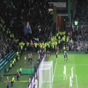 A new clearer angle of the Copenhagen player incident with a police officer, in the game at Celtic. Santos has been charged with assault for this incident.
