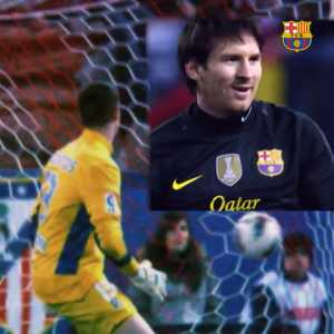 Shortly after Thibaut Courtois' comments on Messi, Barça Twitter shared this video.