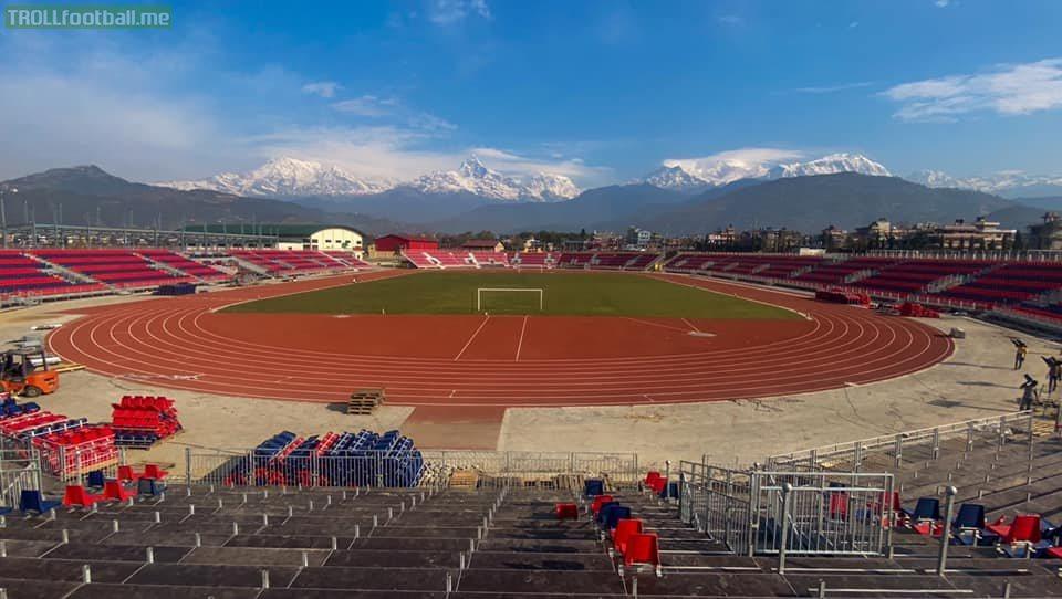 Newly built stadium in Pokhara, Nepal