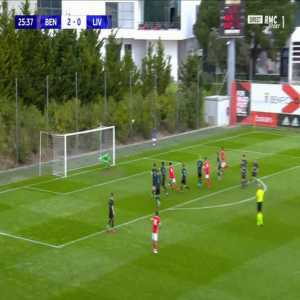 Benfica U19 3-0 Liverpool U19 - Nuno Tavares 26'
