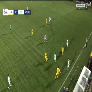 Livingston [2]-1 Celtic - Scott Robinson 46'