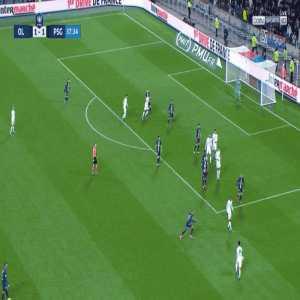 Neymar tracking back and slide tackling vs Lyon