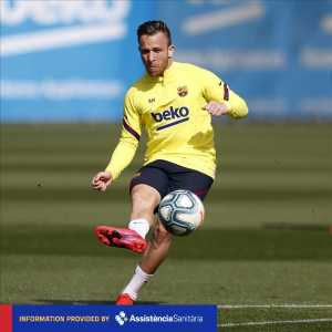 Barcelona have announced that Arthur Melo has suffered an ankle injury in training.