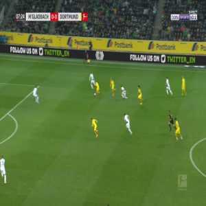 Monchengladbach 0-1 Dortmund - Thorgan Hazard 8'