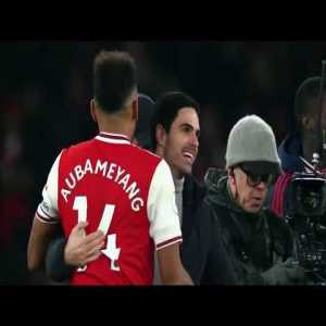 Pierre-Emerick Aubameyang: 'I love the fans here and when I was younger, I used to always watch Arsenal because they had great players. It's a pleasure to be here & I'm really happy'.
