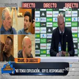 Zidane: I have no explanation, i am responsible.