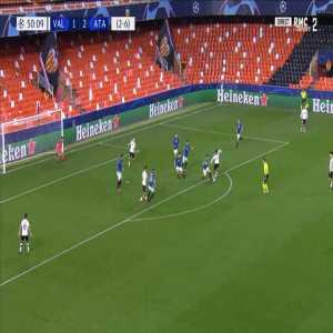 Valencia [2]-2 Atalanta [3-6 on agg.] - Kevin Gameiro 51'