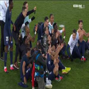 All PSG players reproduce the celebration of Erling Haaland