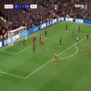 Liverpool 1-0 Atlético Madrid [1-1 on agg.] - Georginio Wijnaldum 43'
