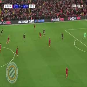 Liverpool 2-[1] Atletico (agg. 2-2) : Llorente 97'