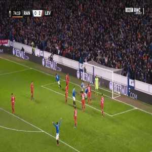 Rangers [1]-2 Leverkusen - George Edmundson 75'