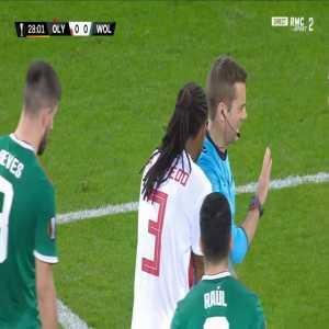 Ruben Semedo (Olympiakos) straight red card against Wolves 29'