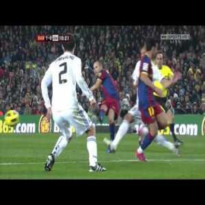 Real madrid vs Barcelona 2010 Mourinho's 1st classical .