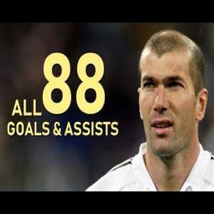 Zinedine Zidane All Goals & Assists For Real Madrid