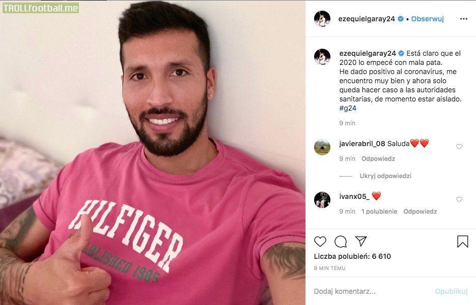 Ezequiel Garay has tested positive for COVID-19. He's first footballer from La Liga to get the virus. (Source: Ezequiel Garay IG)