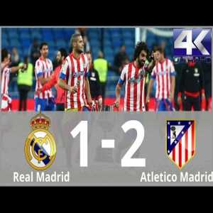 2013 Copa del Rey-final. Atlético beats Real Madrid for the first time in 12 years. Goals from Ronaldo, Diego Costa and Miranda