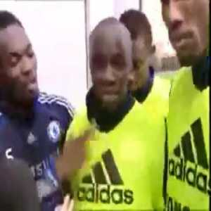 When Michael Essien, Didier Drogba and Kalou were asked if Lassana Diarra could speak English