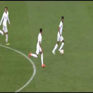 England's attempt to score after Croatia's winning goal