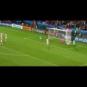 Amazing pass by Nani vs Croatia