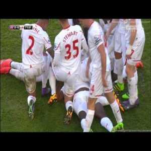 Aston Villa 0 - [6] Liverpool | Kolo Toure (Great Header)
