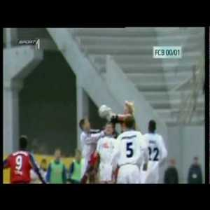 Bayern 3-3 Rostock | Oliver Kahn - Great Jumping Punch Goal & Red Card