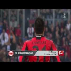 FC Schalke 04 1-[1] Eintracht Frankfurt - Georgios Tzavellas 70' (great goal vs Neuer)