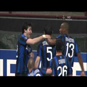 Inter [1]-0 Schalke - Stankovic half-line volley past Neuer 25 seconds into the game