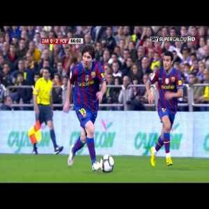 Lionel Messi vs Real Zaragoza (Away) 2009-10