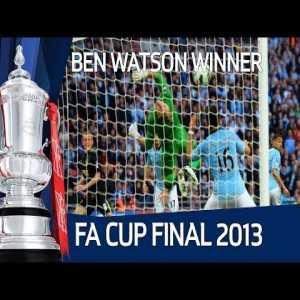 Man City 0 - [1] Wigan Athletic: Watson '88 (FA Cup - Final)