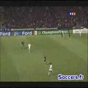 Mancini (Roma) great goal vs Lyon. 6 stepovers in the box before smashing it in with his left foot.