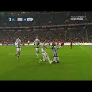 Morata's insane run against Bayern Munich to setup Cuadrado.