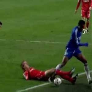 Peter Crouch's wild red card tackle against Chelsea