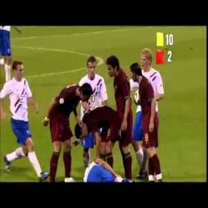 Portugal 1 - 0 Netherlands - WC 06 - 16 Yellow Cards and 4 Red Cards Ultimate shithousery